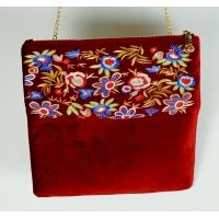 red_velet_fabric_clutch_bag_2