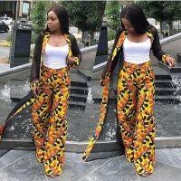 56d44380cad9e women_jacket_3. $110.00 each African Print Kimono Jacket with Wide Leg  Pants - .