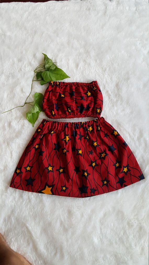 16aea2f092f07 African skirt/African babygirl clothes/baby set/Newborn clothes/African  clothing/Ankara skirt/Kente Fabric/Girl skirt/: 0-3 Months