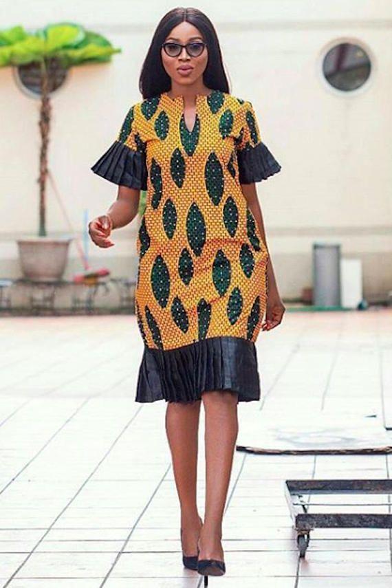 African Print Senegal Midi Dress: African Print Midi Dress