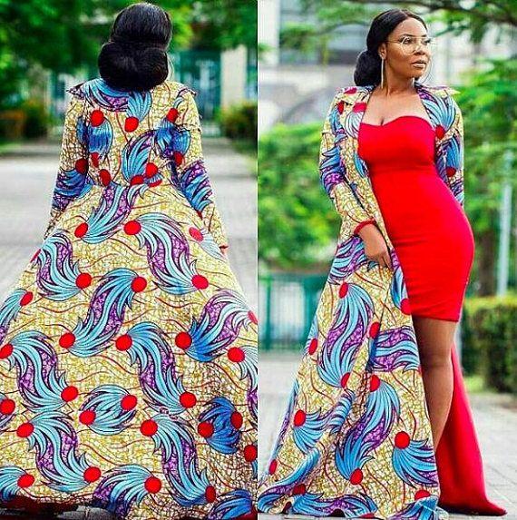 c51025b5f876a African Print Jacket- Long Jacket - Ankara - African Dress - Handmade - Africa  Clothing - African Fashion: 2 US Women's