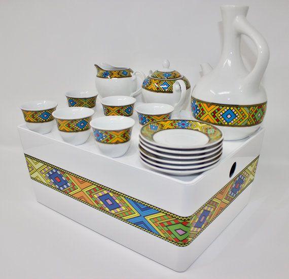 Ethiopian/Eritrean Coffee Cups, Tilét Edition 1, A Set Of